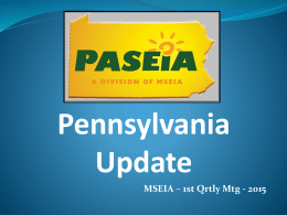 MSEIA- state of solar market in PA Presentation