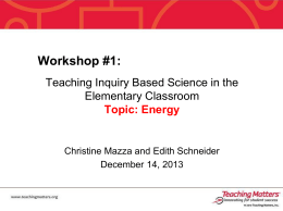 Inquiry Based Science- Energy12_14_13