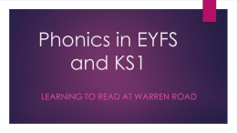 Phonics - Warren Road Primary School