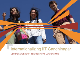 Internationalization of IITGN