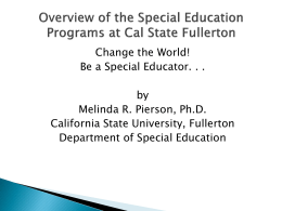 Melinda Pierson - Change the World. Be a Spe