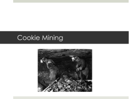 Cookie Mining - AHISD First Class