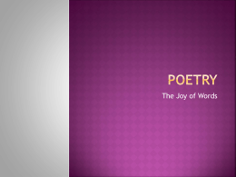 poetry - CMAVTSEnglish