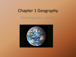 Chapter 1 Geography