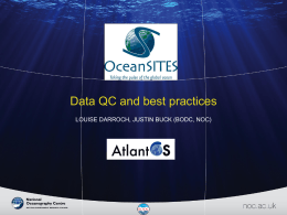 Data QC and best practices