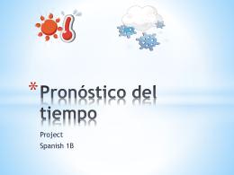 Pronostico del tiempo project