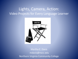 Video Projects PPT