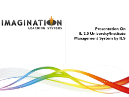 ILS Presentation Template - Imagination Learning Systems