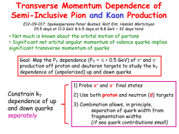 E12-09-017: Transverse Momentum Dependence of