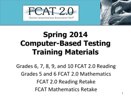 Spring 2014 RMS CBT Training Materials