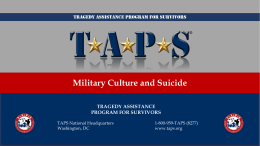 Military Culture and Suicide