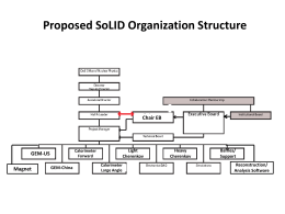 Proposed SoLID Organization Structure