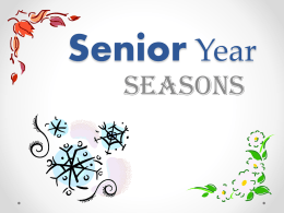 Seasons for Seniors - Olympia High School