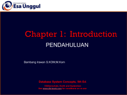 Chapter 1: Introduction - Perancangan Basis Data