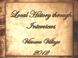 local history trough interviews