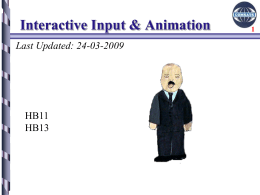 5-Interactive Input and Animation