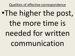 Qualities of effective correspondence