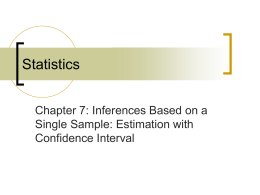 Estimation Single Sample