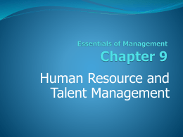 9. Staffing and Human Resource Management.