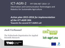 Presentation ICT-AGRI ERANET Action plan 2015