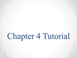 Chapter 3 Tutorial