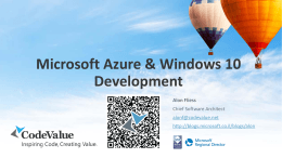 Intro to Microsoft Azure Cloud