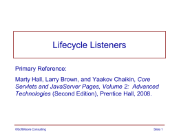 Lifecycle Listeners