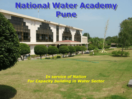 Presentation on National Water Academy, Pune