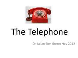 The Telephone - Manchester GP Training
