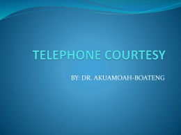 telephone courtesy