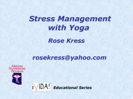 Stress Management with Yoga - presentation Sep 2014
