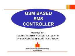 GSM based sms controller