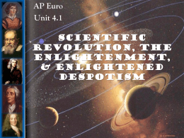 scientific revolution, the enlightenment - AP EURO
