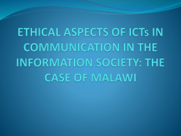 ethical aspects of communication in information society