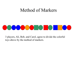 Method of Markers - Montgomery College