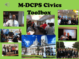 Civics End-of-Course Assessment Assessment Update #1