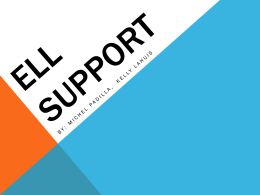 ELL Support - Kelly LaHuis