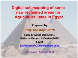 Presentation by Prof. Mostafa Kotb