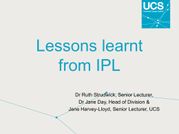 Lessons learnt from IPL