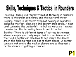 rounders skills and