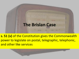 The Brislan Case - Year 12 - Legal Studies