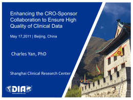 Enhancing the CRO-Sponsor Collaboration to Ensure High