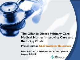 Qliance - CLG | Employer Resources