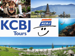 KCBJ Presentation - World Travel Market
