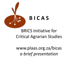 The BICAS Initiative