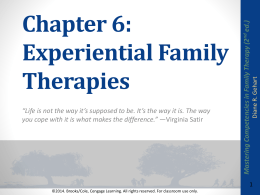 Chapter 6 Experiential MCFT