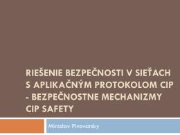bezpe*nostne mechanizmy CIP safety