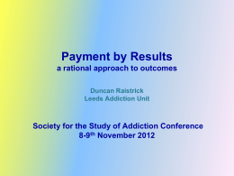 presentation - Society for the Study of Addiction
