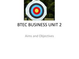 BTEC BUSINESS UNIT 2 - Gazi Asha