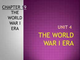 LECTURE 01_The Road to War